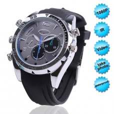 FULL HD IR Night Vision Waterproof  Watch Camera
