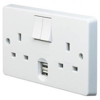 THE NEW GSM DOUBLE SOCKET WITH 2 USB CHARGER SOCKETS